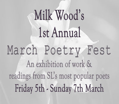 Milk Wood's March Poetry Festival